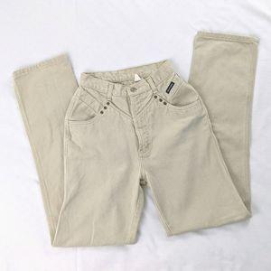 VTG Rockies Khaki Tan Super High Waist Long Jeans